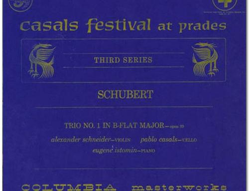 Schubert. Trio n° 1 avec Schneider et Casals