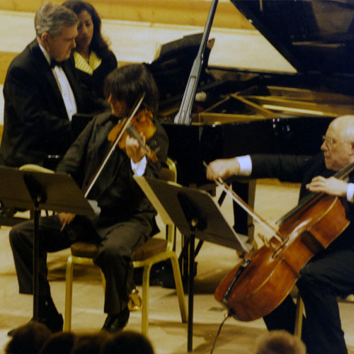 Photo with Stern, Bashmet and Rostropovitch