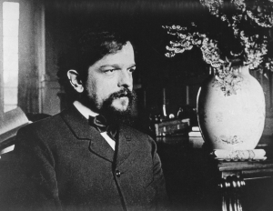 Claude Achille Debussy (Saint-Germain-en-Laye, 1862 - Paris, 1918), French composer and pianist in Paul Dukas library at Eragny after