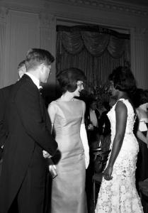 John et Jackie Kennedy avec Grace Bumbry
