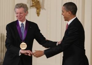 Van Cliburn et Obama. 2011