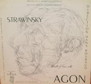 Giacometti, Portrait d'Igor Stravinsky
