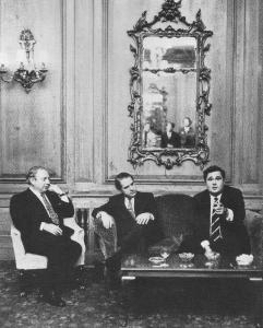 Le Trio en conférence de presse à Londres
