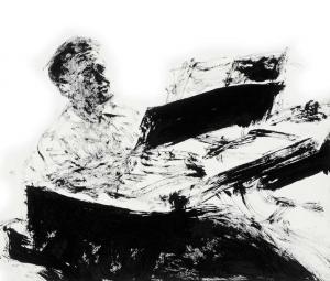 Eugene Istomin, dessin d'Arikha