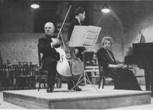 Pablo Casals et Clara Haskil au Festival de Prades 1953
