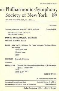 Mitropoulos programme 1957