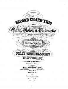 Mendelssohn Trio n°2