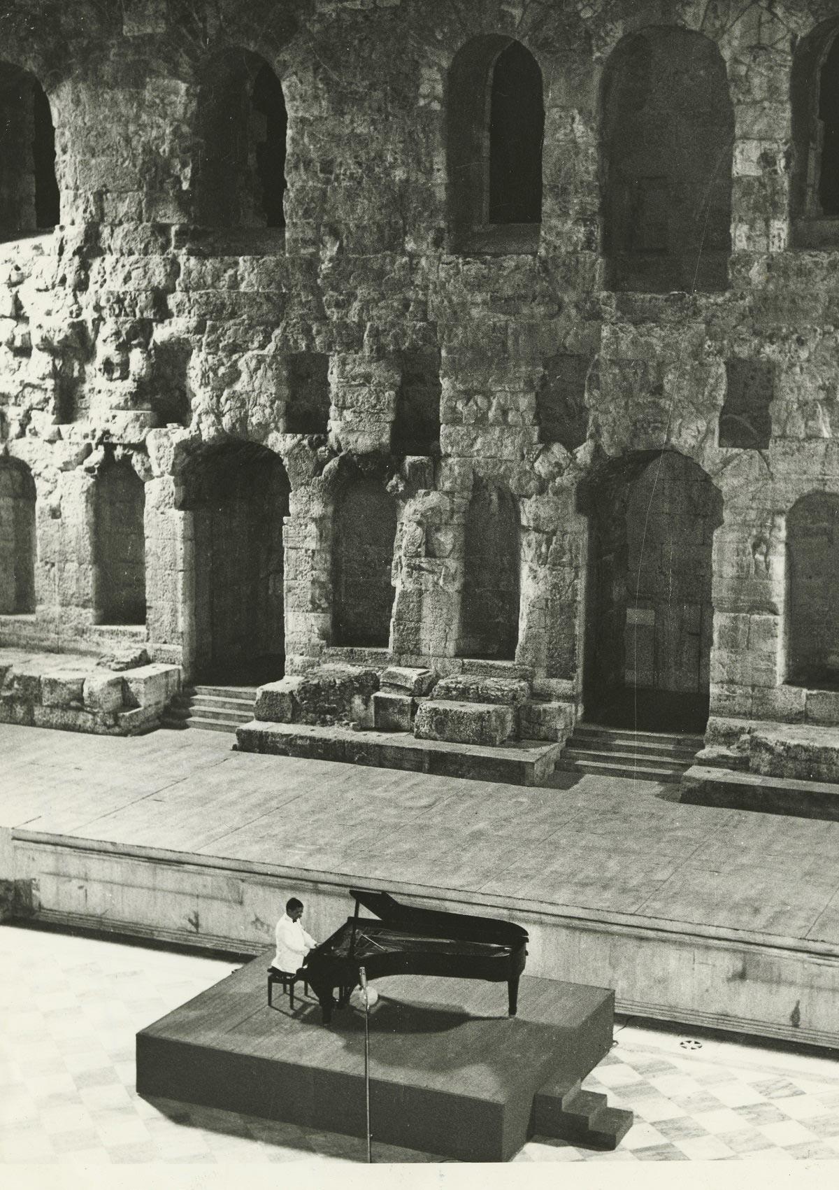 Istomin en récital au Théâtre Herod Atticus en 1962