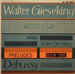 Gieseking Debussy pochette