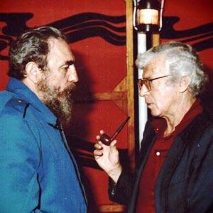 Henry Raymont et Fidel Castro
