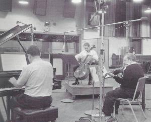 Trio enregistrant Schubert 001