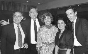 Eugene et Marta Istomin encadrent William et Martha Jovanovitch. A droite, Peter Jovanovitch. 1984.