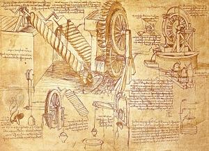 Une page du Codex Atlanticus