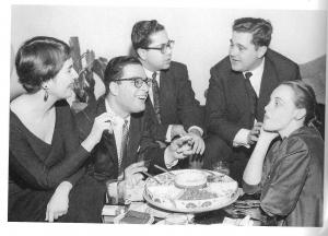 Naomi Graffman (à gauche) avec Leon Fleisher, Gary Graffman, Eugene Istomin et Dot Fleisher, au milieu des années 50