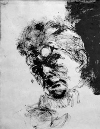Beckett par Arikha 1967