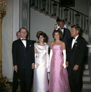 André Malraux à la Maison Blanche avec les Kennedy